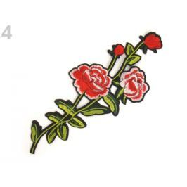 Nažehlovačka na rifle kvety / ruže červená 10ks Stoklasa