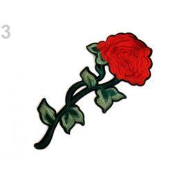 Nažehlovačka na rifle kvety / ruže červená 50ks Stoklasa