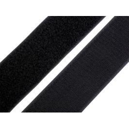 Suchý zips háčik + plyš šírka 50 mm čierna 250m