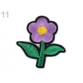 Nažehlovačka kvet fialová lila 10ks Stoklasa