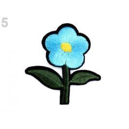 Nažehlovačka kvet modrá azurová 250ks Stoklasa