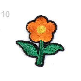 Nažehlovačka kvet oranžová   250ks Stoklasa