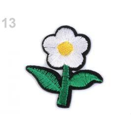 Nažehlovačka kvet biela 250ks Stoklasa