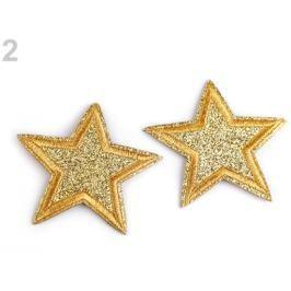 Nažehlovačka hviezda zlatá 2ks Stoklasa