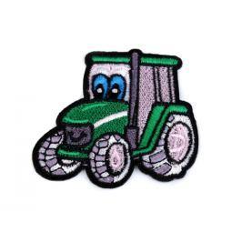 Nažehlovačka traktor zelená pastelová 100ks Stoklasa