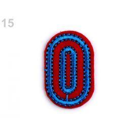Nažehlovačka písmená / čísla červená 10ks Stoklasa