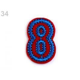 Nažehlovačka písmená / čísla červená 300ks Stoklasa
