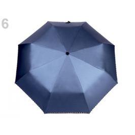0093284f6 Detail · Dámsky skladací vystreľovací dáždnik modrošedá tm. 1ks