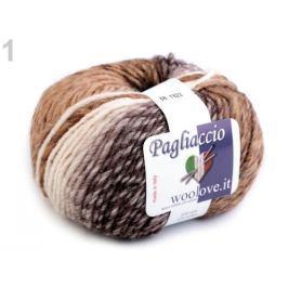 Pletacia priadza 50 g Pagliaccio béžová 1ks