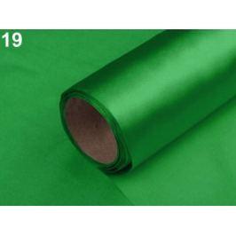 Satén jednostranný šírka 14 cm zelená pastelová 90m Stoklasa