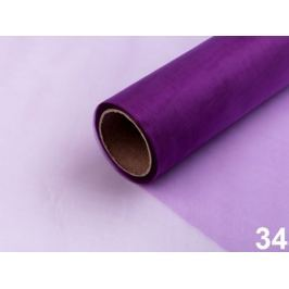 Organza šírka 14,5 cm fialová purpura 180m Stoklasa
