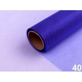 Organza šírka 14,5 cm modrá safírová 180m Stoklasa