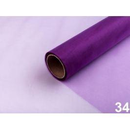 Organza šírka 36 cm fialová purpura 90m Stoklasa
