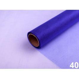 Organza šírka 36 cm modrá safírová 90m Stoklasa