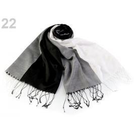 Šatka so strapcami 68x185 cm čierna 1ks