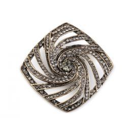 Brošňa s brúsenými kamienkami black diamond 1ks Stoklasa