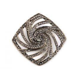 Brošňa s brúsenými kamienkami black diamond 2ks Stoklasa