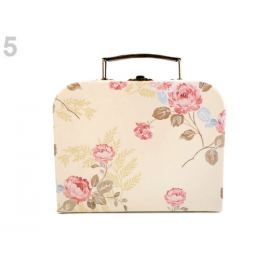 Vintage kufrík - malý 16x20 cm béžová najsv. 1ks Stoklasa