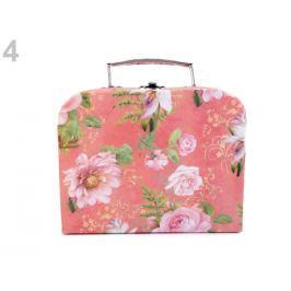 Vintage kufrík - malý 16x20 cm červená sv. 1ks Stoklasa