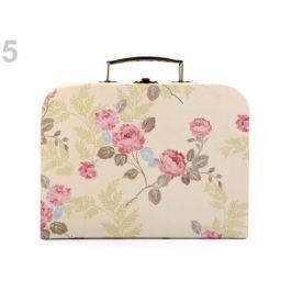 Vintage kufrík - stredný 19x25 cm béžová najsv. 1ks Stoklasa