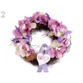 Kreatívna sada kvetinový veniec ružová 4sada