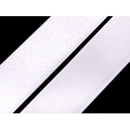 Suchý zips háčik + plyš šírka 50 mm biely biela 100m