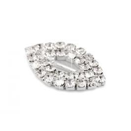 55243380f5dcc Detail · Štrasová spona / ozdoba 14x24 mm crystal 1ks Stoklasa
