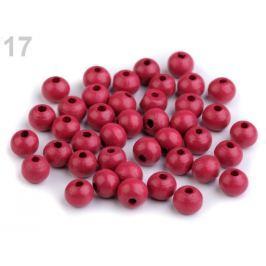 Drevené koráliky Ø8 mm ružová tm. 100g Stoklasa