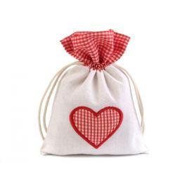 Darčekové vrecúško srdce 12,5x17,5 cm režná svetlá 1ks Stoklasa