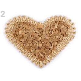 Nažehlovačka srdce, motýľ zlatá 1ks Stoklasa