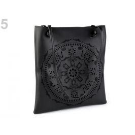 Kabelka / taška perforovaná - mandala 31x34 cm čierna 1ks Stoklasa
