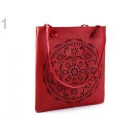 Kabelka / taška perforovaná - mandala 31x34 cm červená 1ks Stoklasa