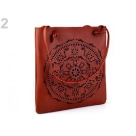 Kabelka / taška perforovaná - mandala 31x34 cm hnedá 2ks Stoklasa