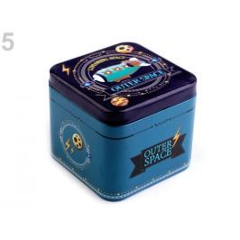 Plechová krabička 3D motív petrolejová 16ks Stoklasa