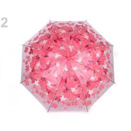Dievčenský priehľadný dáždnik ružová str. 6ks Stoklasa