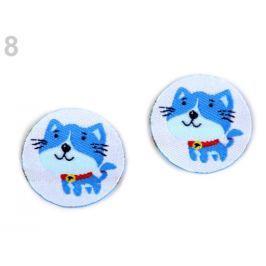 Nažehlovačka malá - sova, mačka, auto, slon modrá neonová 280ks Stoklasa