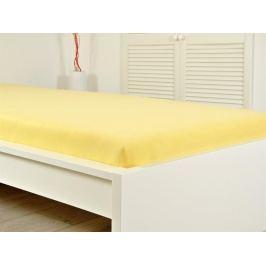 Jersey prestieradlo elastické 180x200 s gumou LUXUS žltá