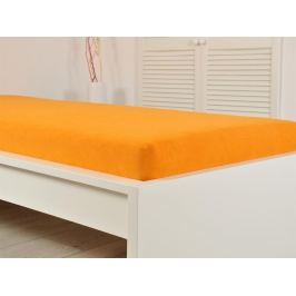 Froté elastické prestieradlo atypické 160 x 200 cm oranžové