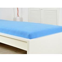 Jersey elastické Prestieradlo 160x200 s gumou - nebeská modrá