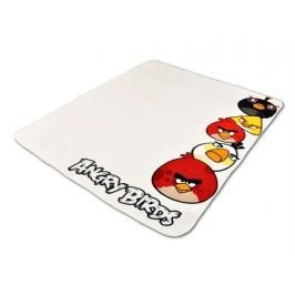 Fleece deka Angry Birds biela 120x150