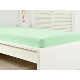 Froté elastické prestieradlo atypické 160 x 200 cm zelené