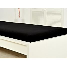 Jersey elastické prostěradlo atypický rozměr 140x200 s gumou - černé
