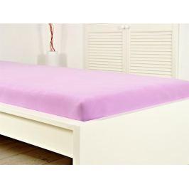 Jersey elastické prestieradlo atypický rozmer 160x200 s gumou - svetlofialová