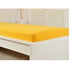 Froté prostěradlo 90x200cm IDEAL - sytě žlutá