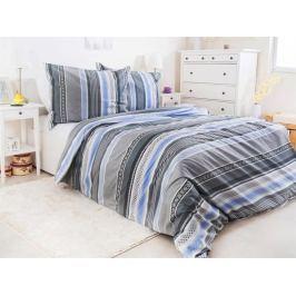 Bavlnené obliečky predĺžené so zipsom Renforcé Griza 140x220