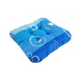 Podsedák so šnúrkami prešitý 40x40 - Modré kolieska