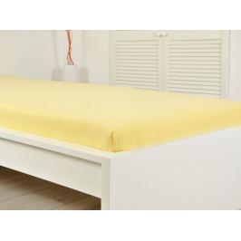 Jersey elastické prostěradlo ATYP 140x200 s gumou 008 žlutá
