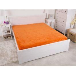 Mikroflanelová plachta na dvojlôžko oranžová 180x200