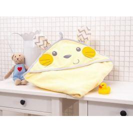 Detská osuška Myška žltá 100x100