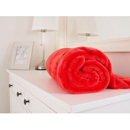 Mikroflanelová deka červená 150x200
